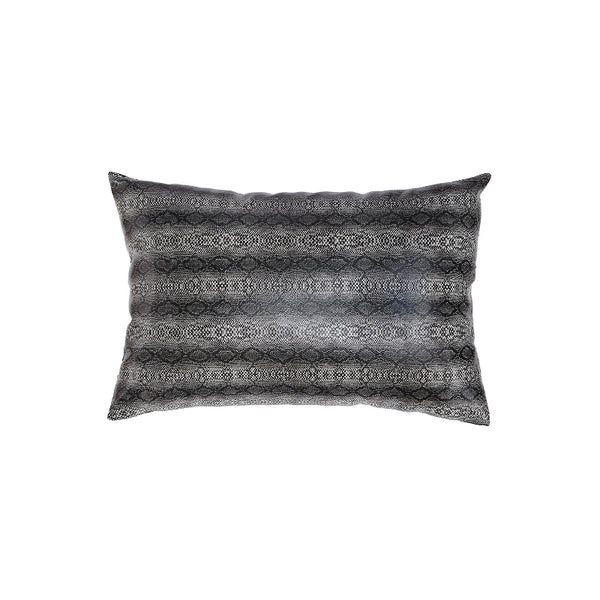 Dark grey snake modern polyurethane kidney toss pillow