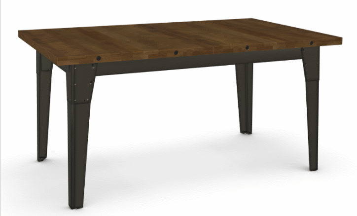 Picture of Tacoma Extendible Dining Table - Solid Distressed Birch w/ 1 Leaf