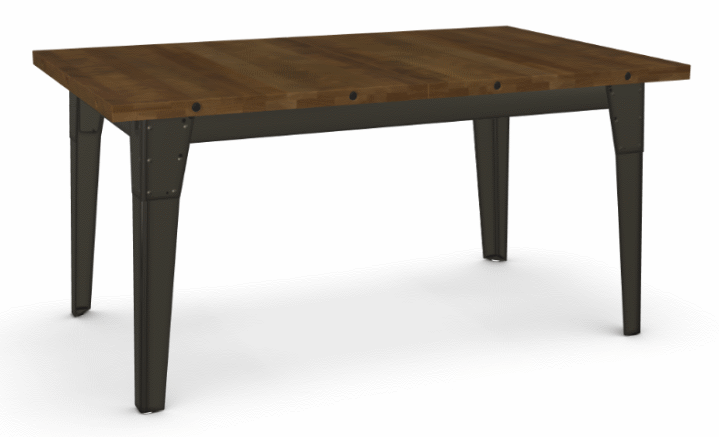 Picture of Tacoma Extendible Dining Table - Solid Distressed Birch w/ 2 Leaves