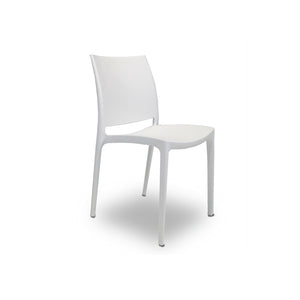 Orange modern plastic outdoor dining chair