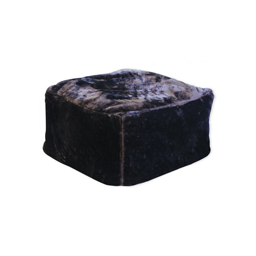 dark grey faux fur bean bag ottoman chair