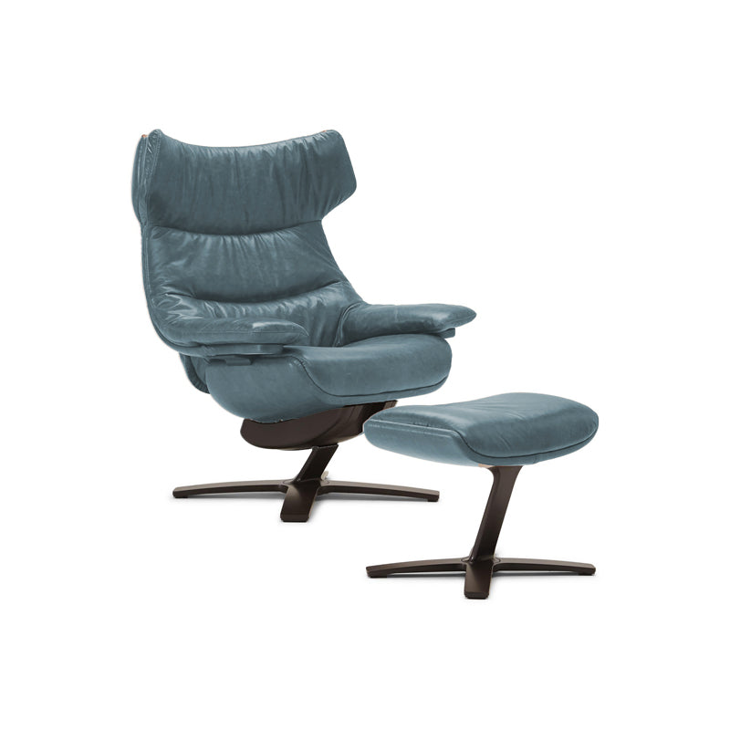 Picture of Wing Back King Arm Chair and Ottoman