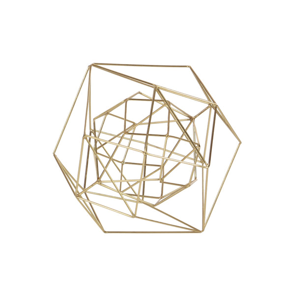 Gold metal wire sphere
