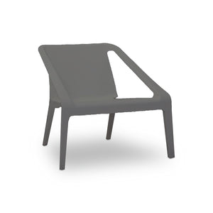 Grey modern plastic outdoor lounge chair