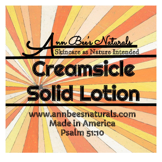 Creamsicle Solid Lotion Bar