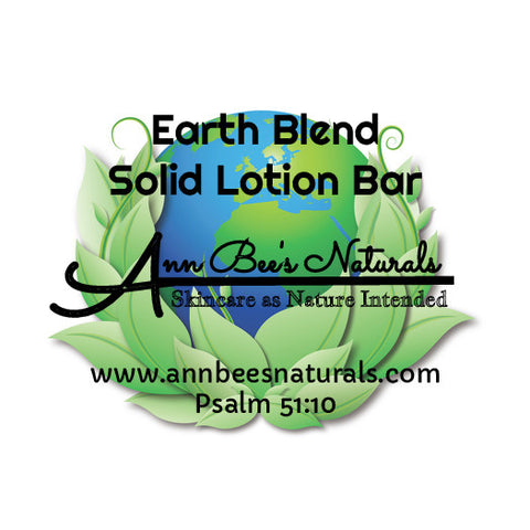 Earth Blend Solid Lotion Bar