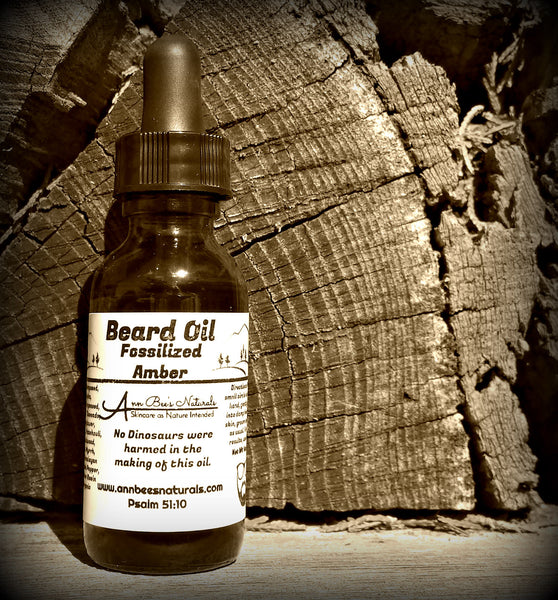 Fossilized Amber Beard Oil