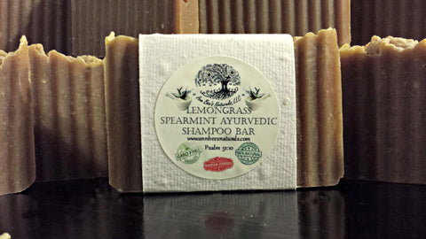 Lemongrass Spearmint Ayurvedic Shampoo Bar