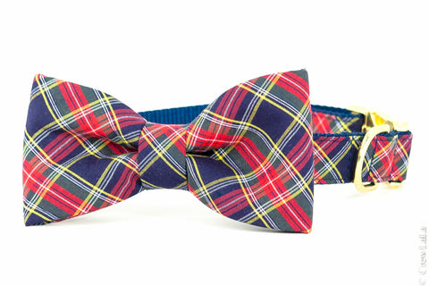 anson plaid bow tie