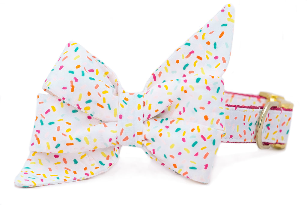 Birthday Sprinkles Belle Bow Dog Collar