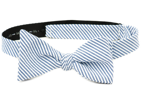 Crew LaLa Men's Blue Seersucker Matching Bow Tie
