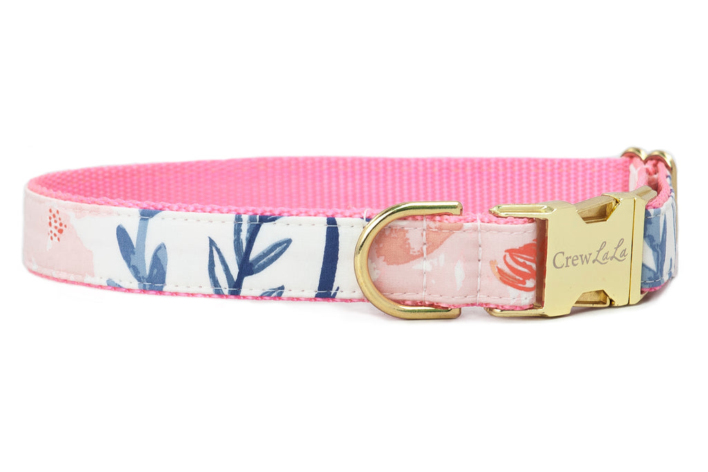 Blush Floral Dog Collar