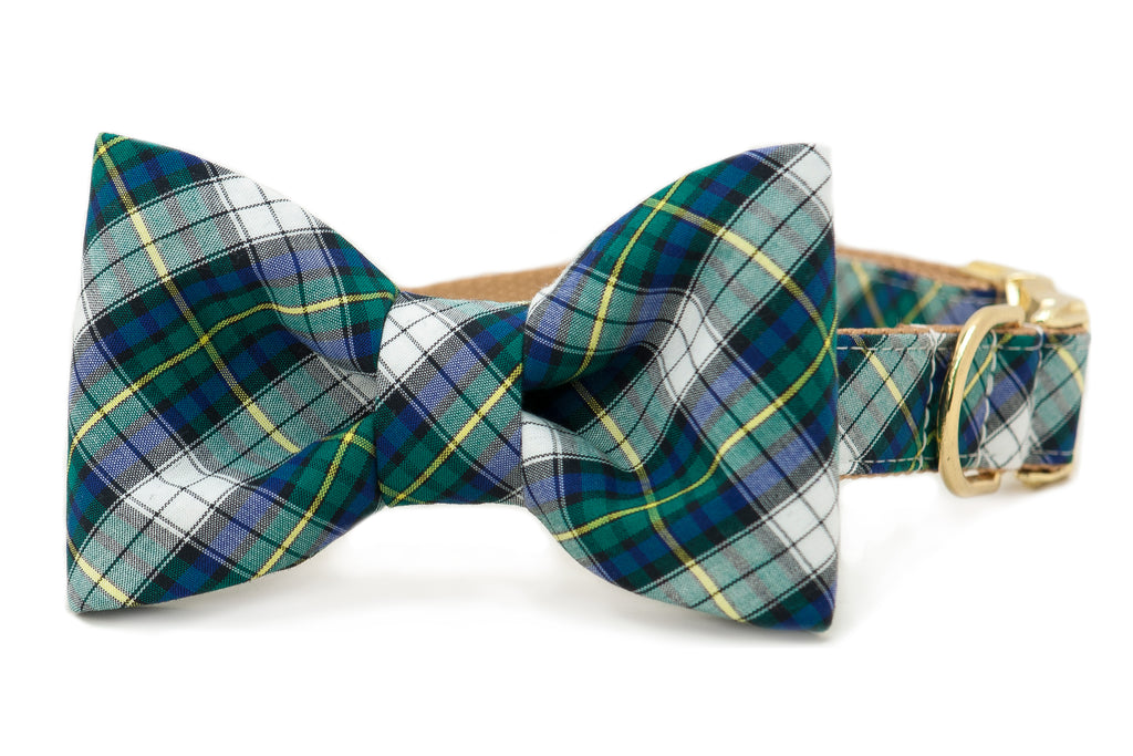 Bogard Plaid Bow Tie Dog Collar