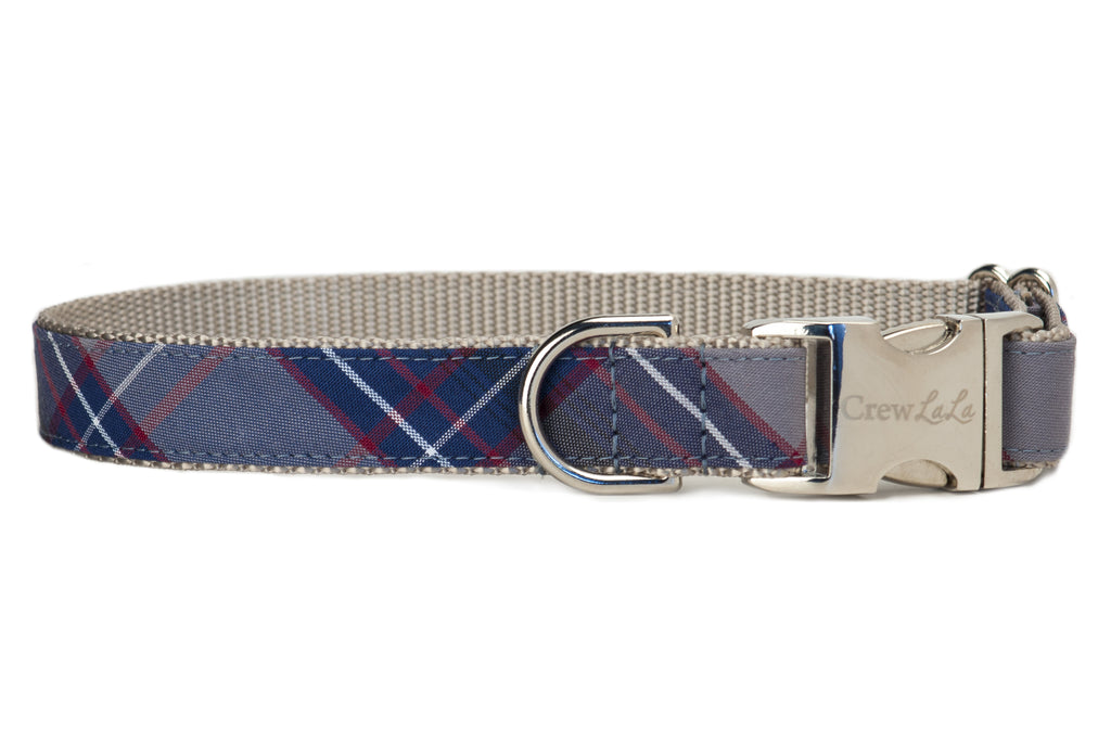 Calhoun Plaid Dog Collar