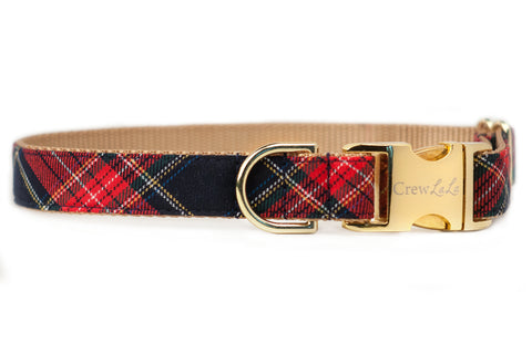 Crew's Plaid Dog Collar