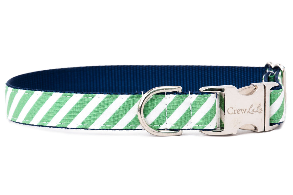 Crew Lala Evergreen Stripe Dog Collar