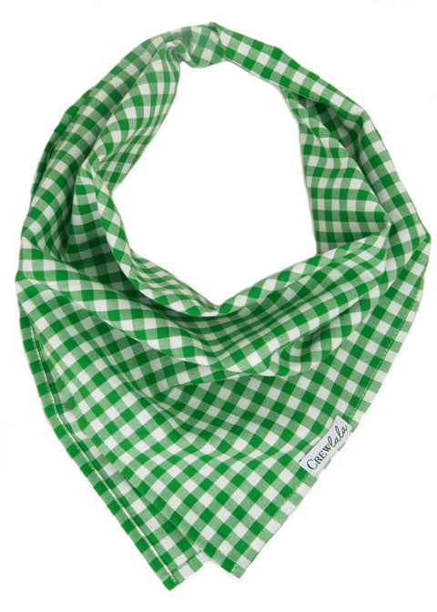 Green Picnic Plaid Dog Bandana