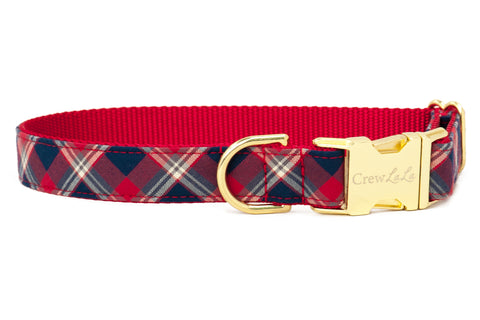 Liberty Plaid Dog Collar