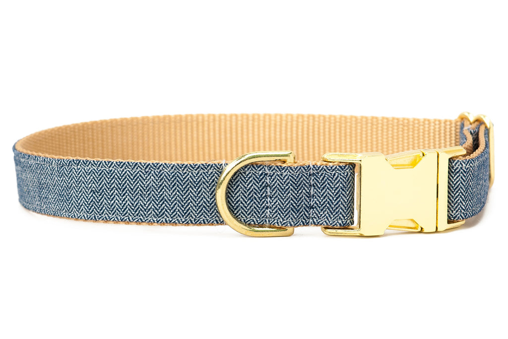 Navy Twill Dog Collar