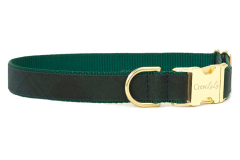 Nightfall Plaid Waxed Cotton Dog Collar