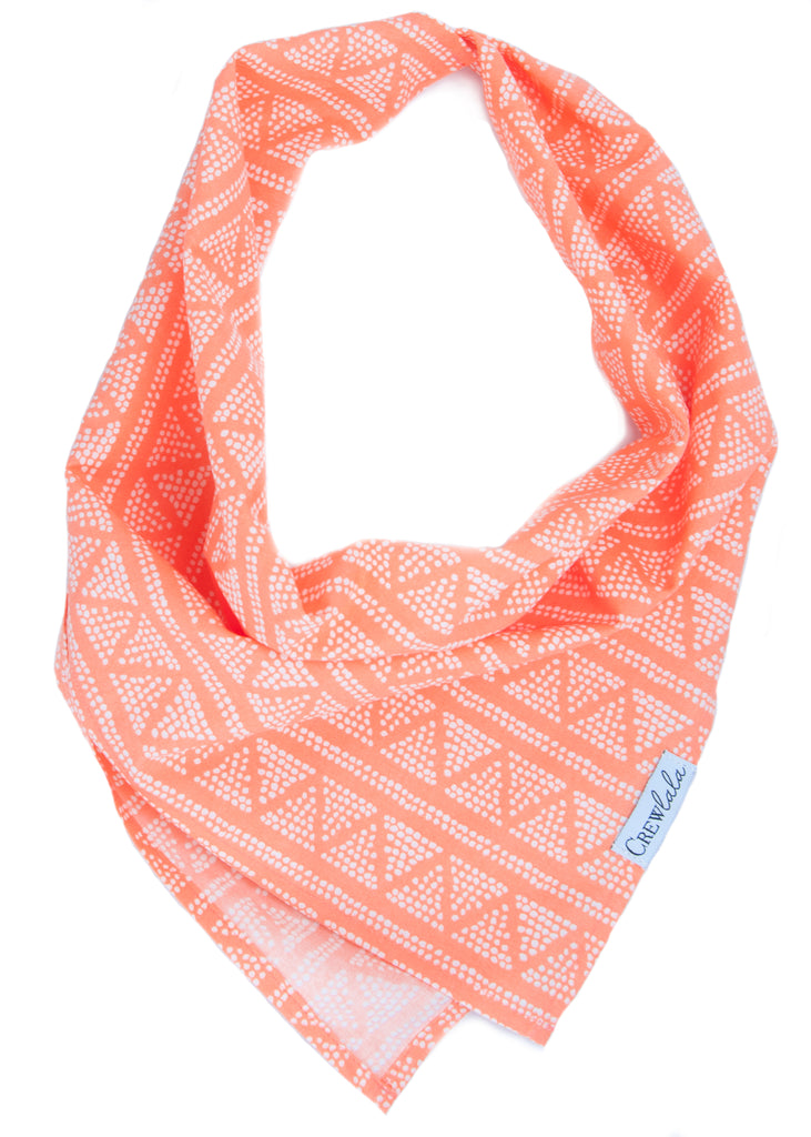 Orange Geo Dog Bandana