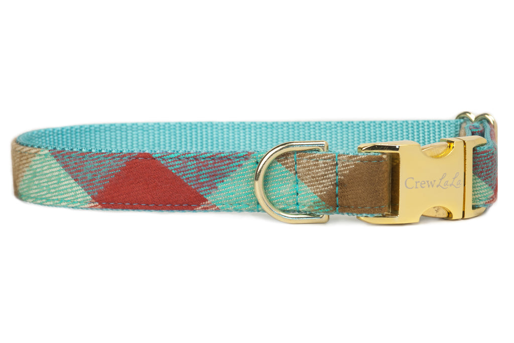 Park Circle Flannel Plaid Dog Collar - 2 Styles!