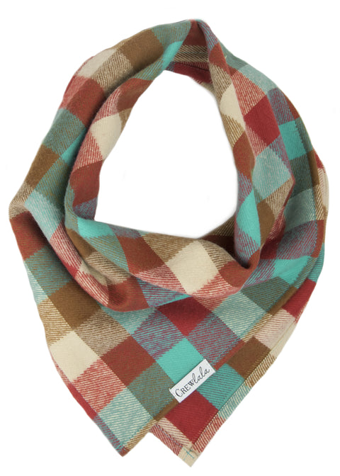 Park Circle Flannel Plaid Dog Bandana