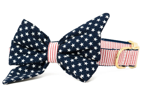 Crew LaLa Patriot Belle Bow Dog Collar