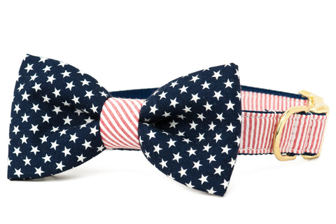 Crew LaLa Patriot Bow Tie Dog Collar
