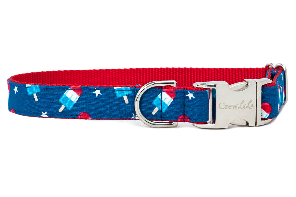 Patriotic Popsicles Dog Collar