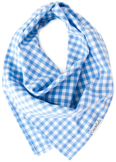 Periwinkle Picnic Plaid Dog Bandana