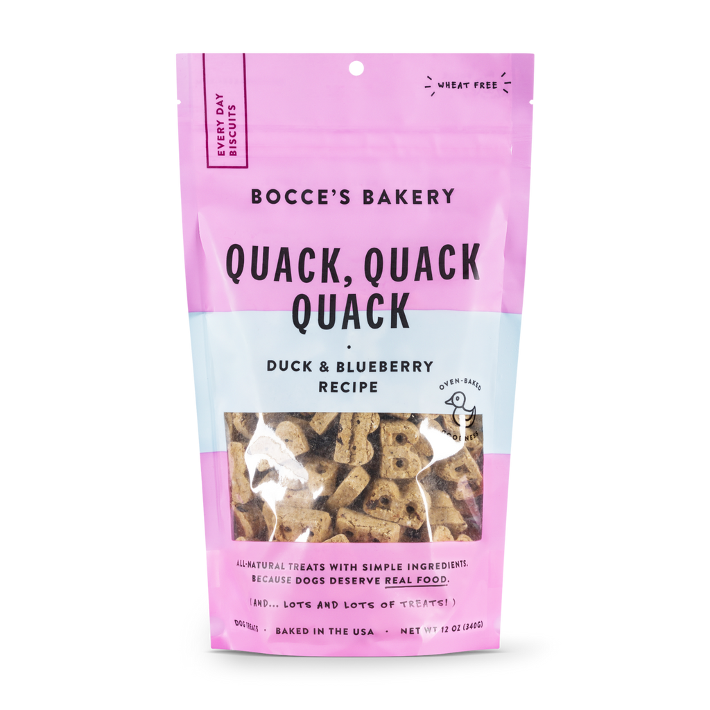 "Bocce's Bakery ""Quack, Quack, Quack"" Duck & Blueberry Treats"