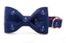 Navy Anchors Bow Tie Dog Collar