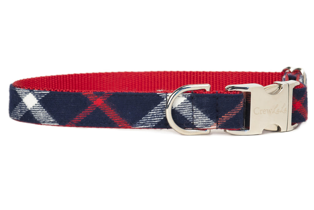 Ravenel Flannel Plaid Dog Collar