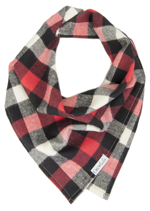 Red, White & Black Buffalo Flannel Plaid Bandana