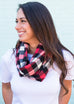Red, White & Black Buffalo Flannel Plaid