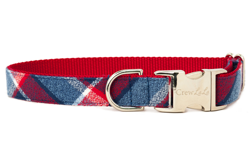 Seaside Flannel Dog Collar