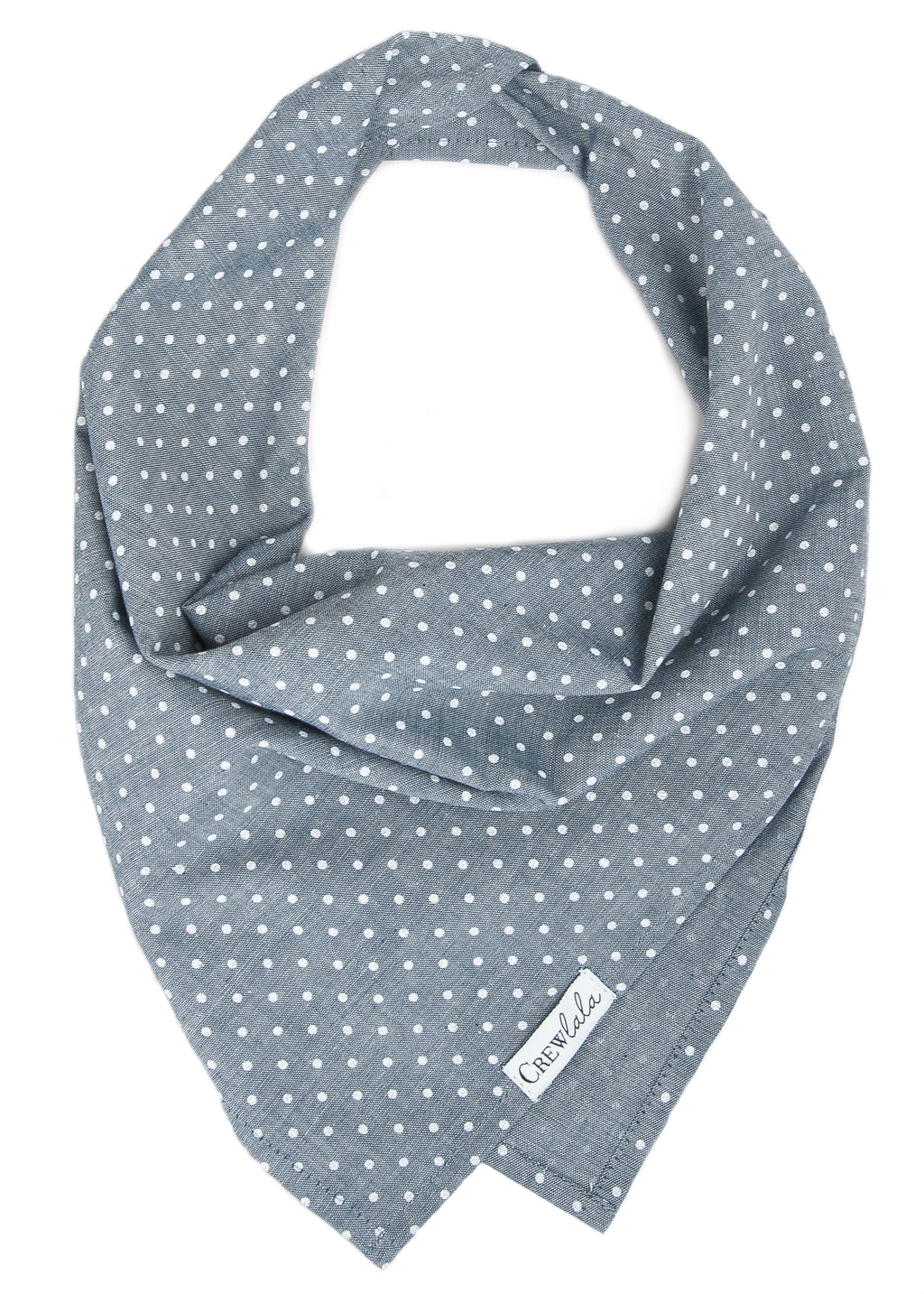 Tiny Dots on Chambray Canvas Dog Bandana
