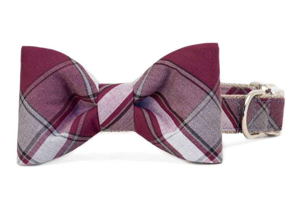Wentworth Plaid Bow Tie Dog Collar- Two Styles!