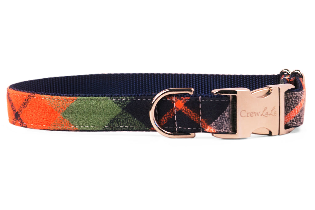 Adventure Plaid Flannel Dog Collar