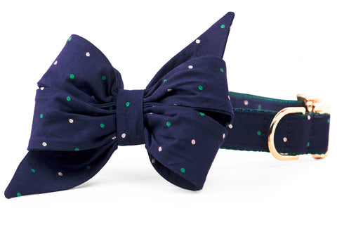 Baby Parker Dot Belle Bow Dog Collar