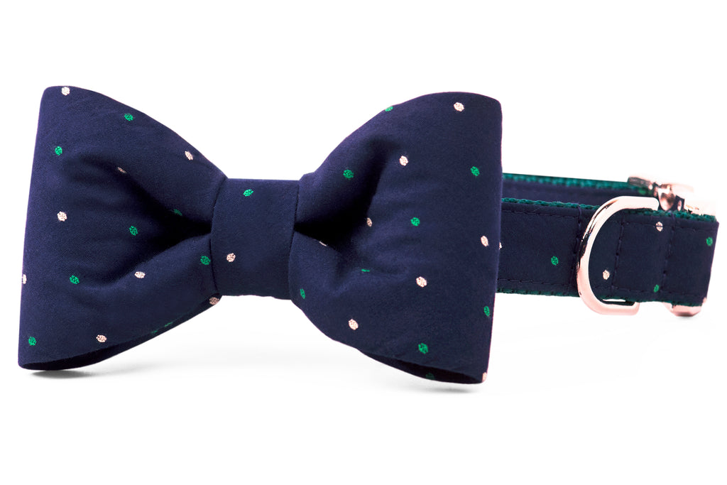 Baby Parker Dot Bow Tie Dog Collar
