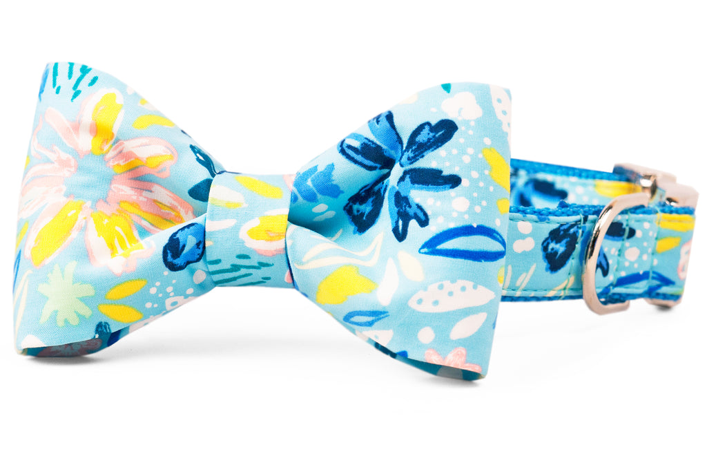 Bayside Blooms Bow Tie Dog Collar