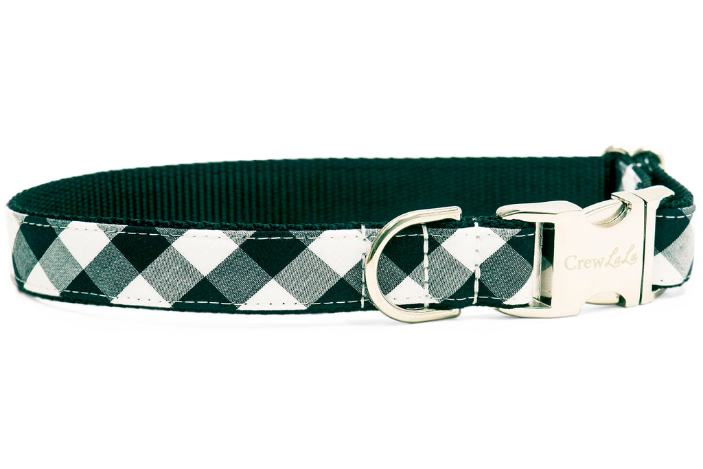 Black and White Buffalo Check Dog Collar