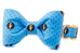 Blue Superhero Bow Tie Dog Collar