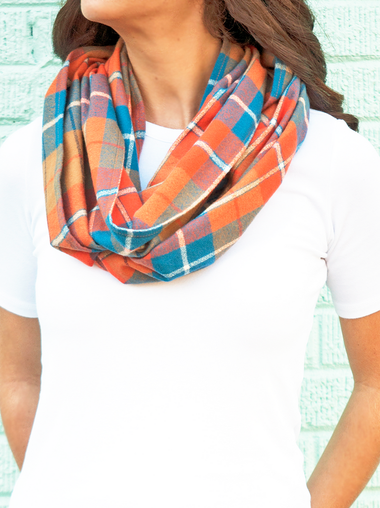 Brewers Plaid Flannel Women's Infinity Scarf