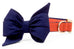 Auburn Navy on Burnt Orange Belle Bow Dog Collar