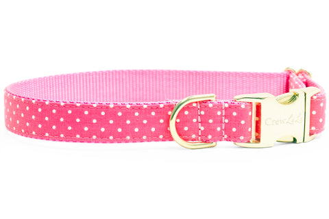 Pink Dot Dog Collar
