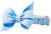 Carolina Blue Belle Bow Dog Collar