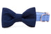 Tar Heels Navy on Carolina Blue Bow Tie Dog Collar